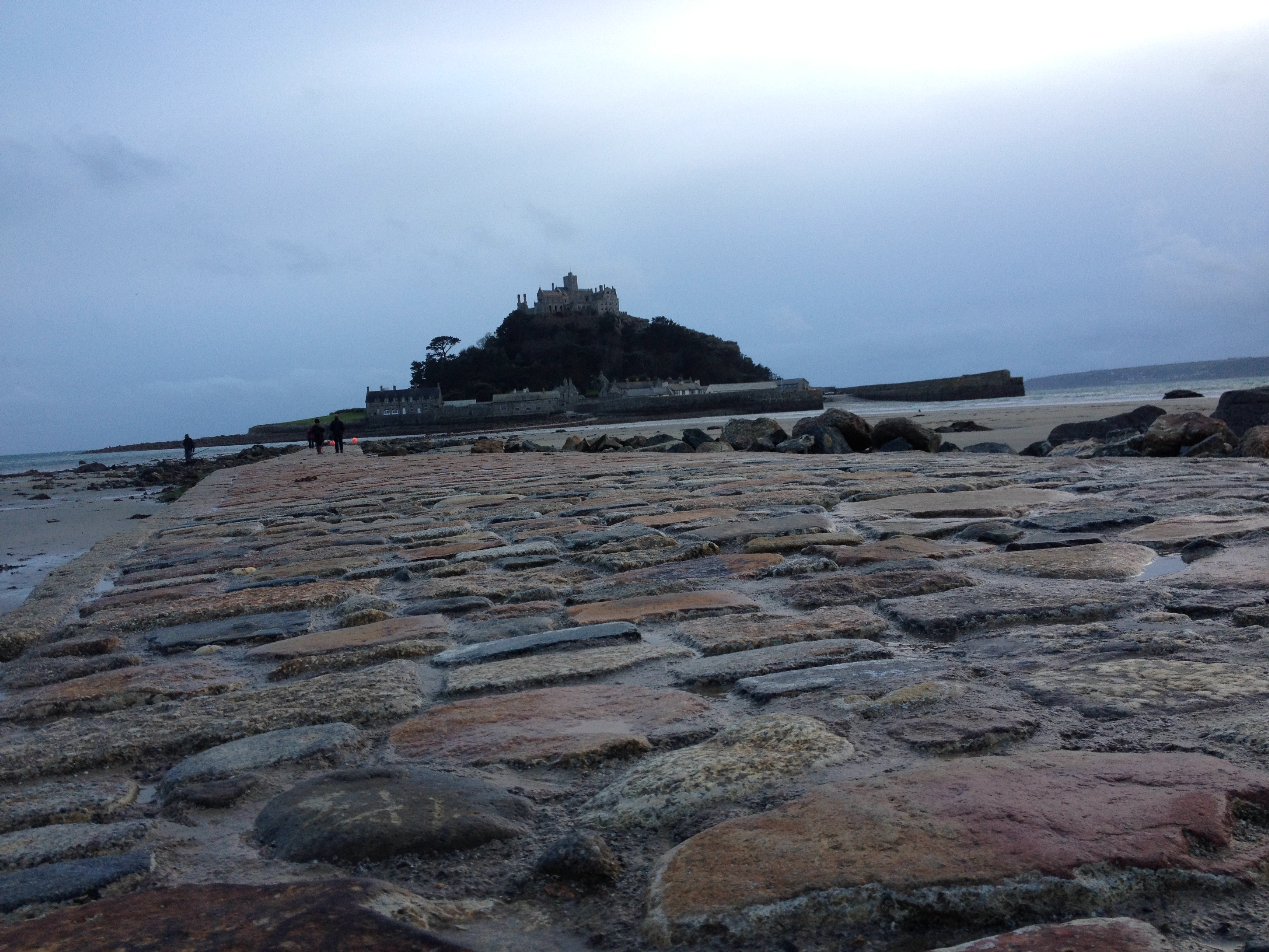 along the causeway to st michaels mount