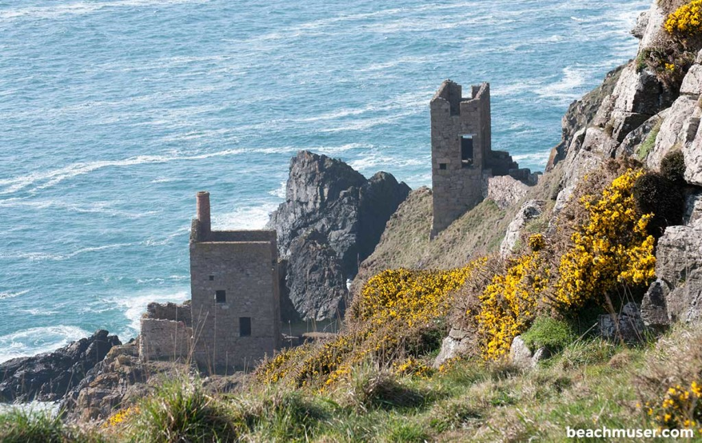 Botallack Cliff Mines Close Up