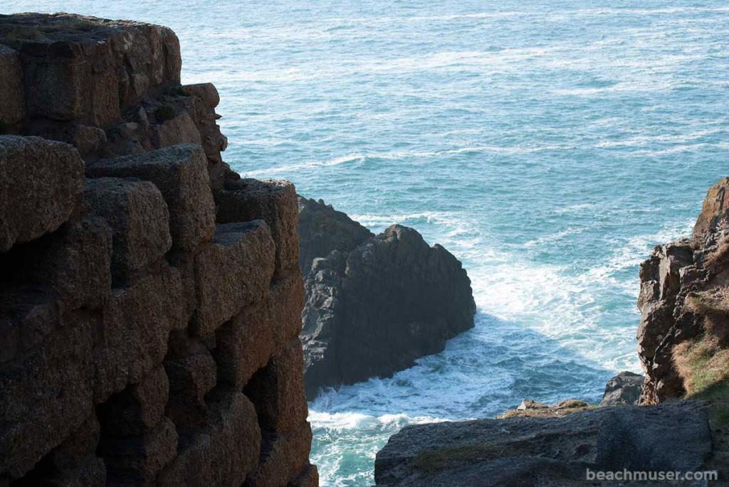 Botallack Mine Wall Sea