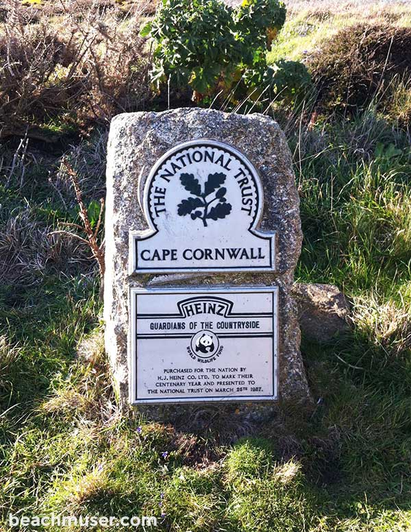 Cape Cornwall National Trust Sign