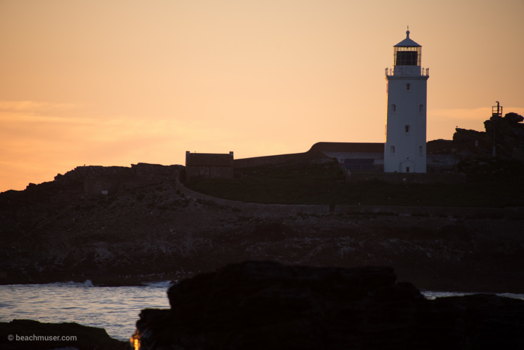 Godrevy Lighthouse Pastel Sunset