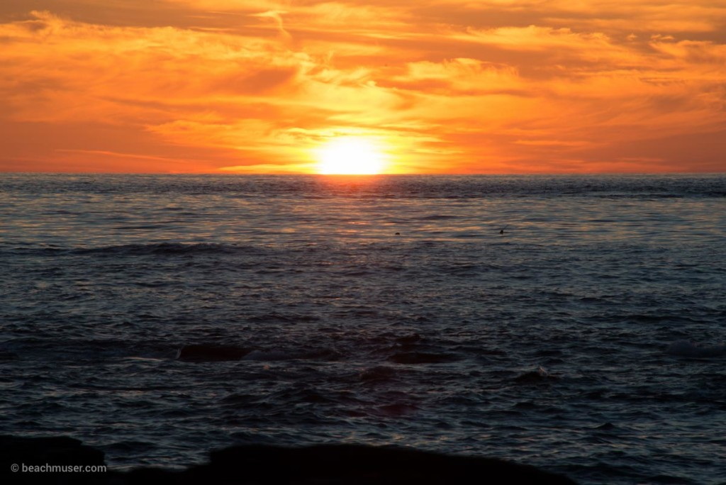 Sunset Falling into the Sea
