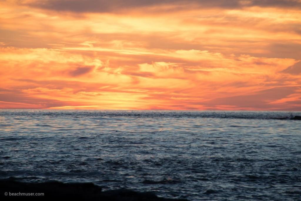 Sunset Fire Sky Rocks